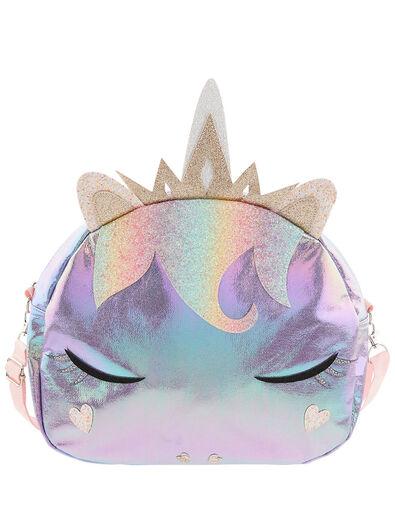 Lila Shimmer Unicorn Bag, , large