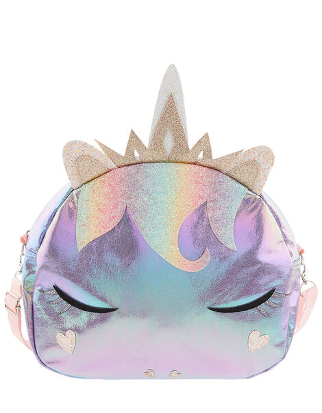 Lila Shimmer Unicorn Bag, , large
