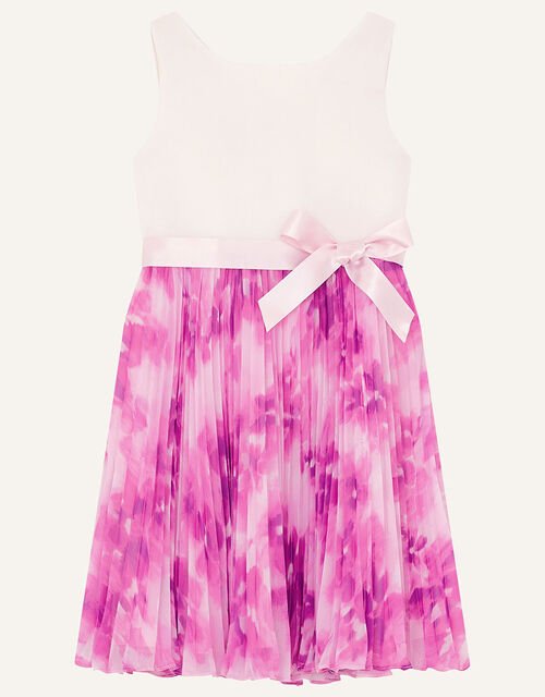 Nixie Floral Pleated Dress, Pink (PINK), large