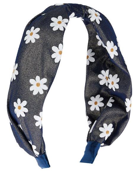 Glitter Daisy Knot Headband, , large
