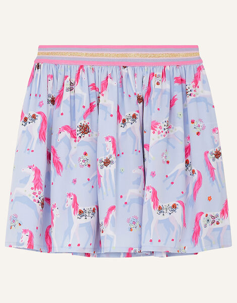 Floral Unicorn Skirt Purple, Purple (LILAC), large
