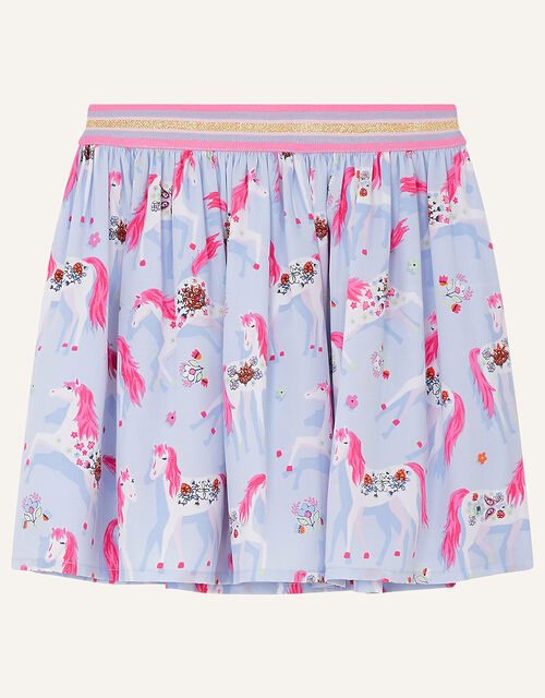 Floral Unicorn Skirt, Purple (LILAC), large