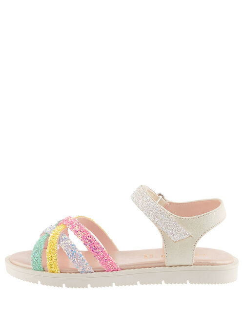 Glitter Rainbow Sandals, Multi (MULTI), large