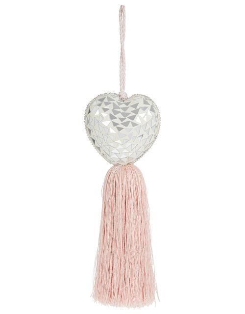 Embellished Heart Door Hanging Decoration, Pink (DUSKY PINK), large