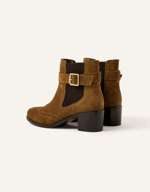 Sasha Suede Brogue Ankle Boots, Tan (TAN), large