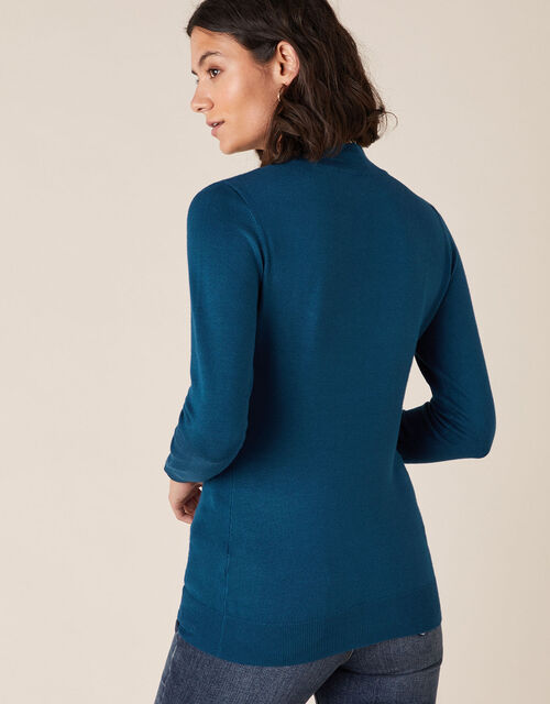 Hotfix Gem Yoke Jumper with LENZING™ ECOVERO™, Teal (TEAL), large