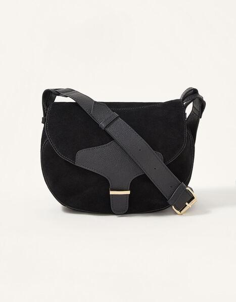 Shanie Suede Saddle Bag, , large