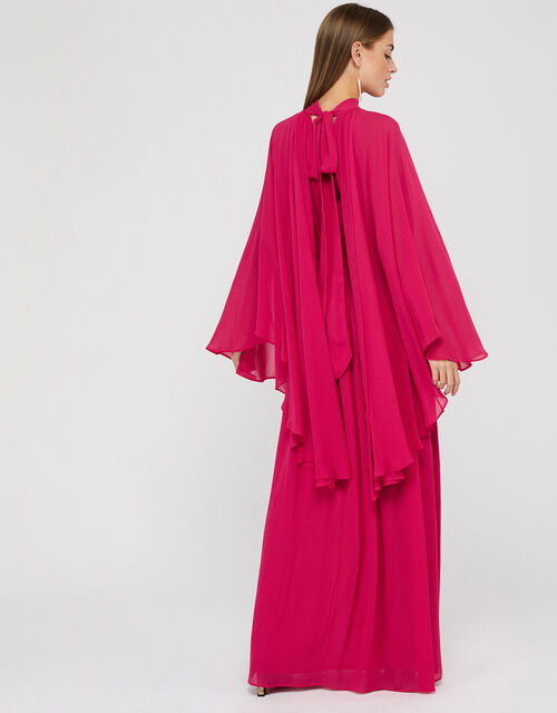 Kate Cape Maxi Dress, Pink, large