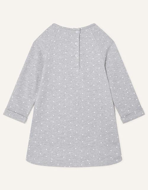 Baby Bear Sequin Sweat Dress, Grey (GREY), large