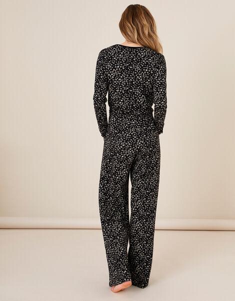 LOUNGE Carter Printed Jersey Jumpsuit Black, Black (BLACK), large