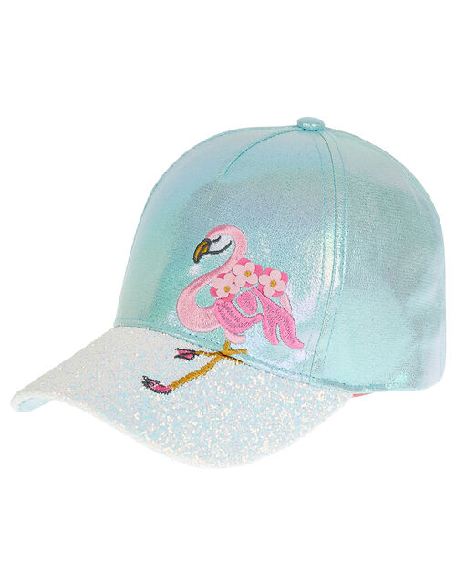 Flamingo Sequin Cap, Green (MINT), large