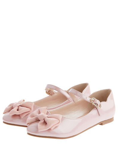 Kali Bow Patent Ballerina Flats Pink, Pink (PINK), large