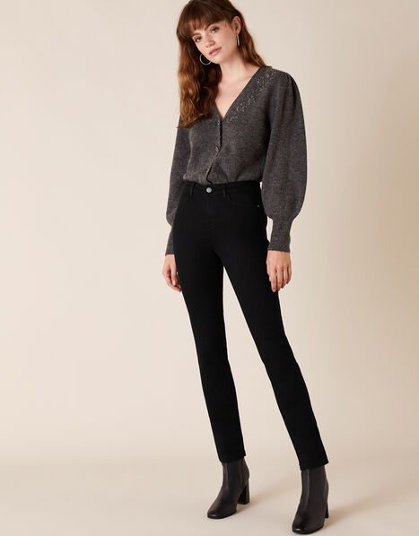 Azura Premium Short-Length Jeans Black, Black (BLACK), large