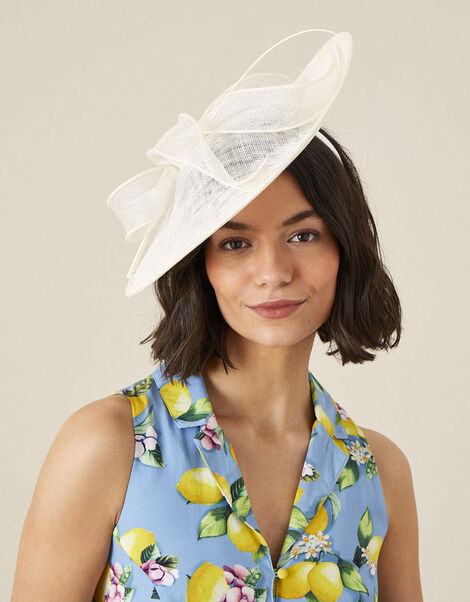 Disc and Bow Fascinator , , large