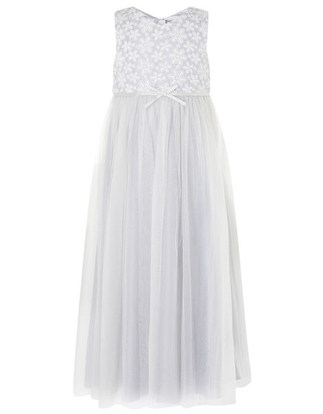 Floral Lace Maxi Dress Grey, Grey (GREY), large