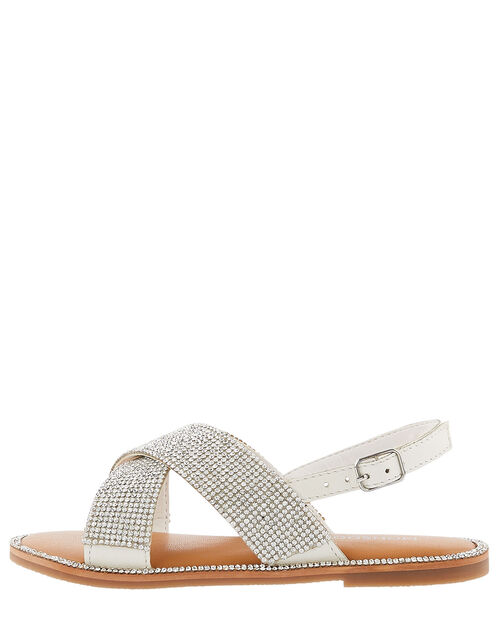Diamante Sandals, Silver (SILVER), large