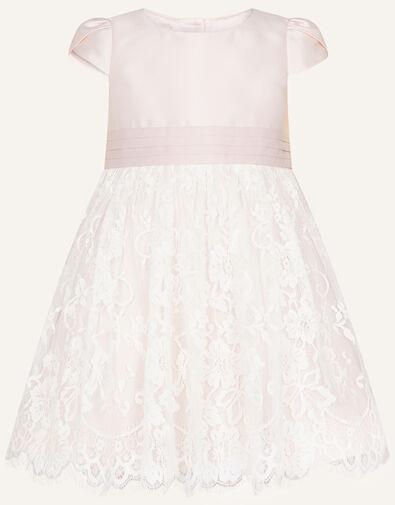 Baby Lace Skirt Bridesmaid Dress Pink, Pink (PINK), large
