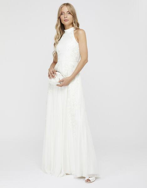 Ethel Bridal Embellished Lace Maxi Dress Ivory, Ivory (IVORY), large