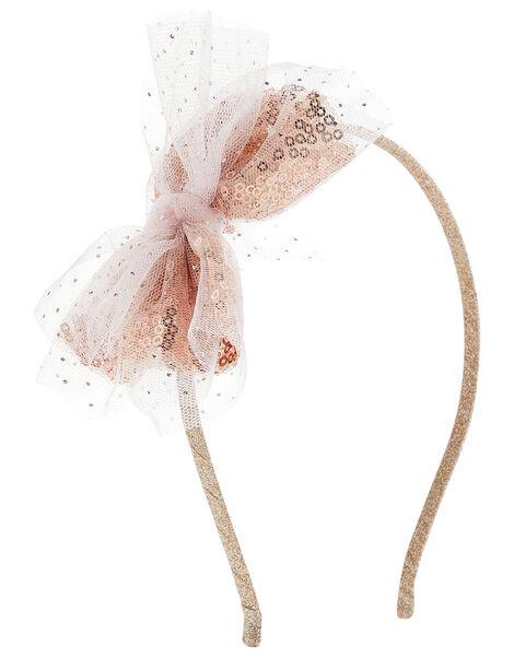Sequin Bow Headband, , large
