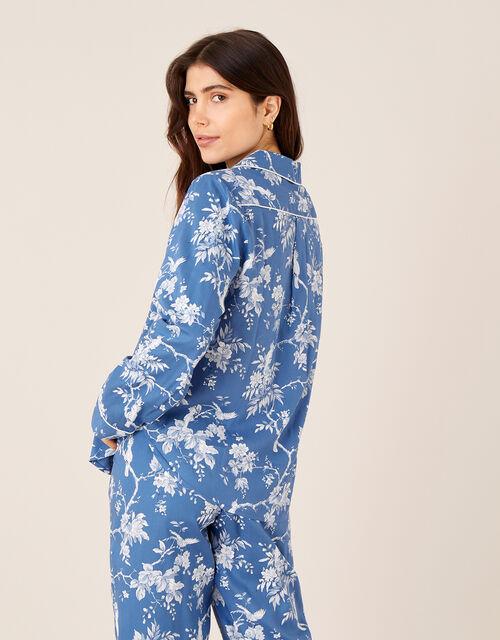 Floral Print Pyjama Set, Blue (BLUE), large