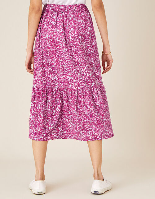 Maddy Printed Jersey Midi Skirt, Pink (PINK), large