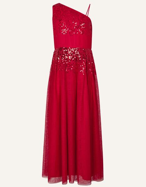 Elish One-Shoulder Prom Dress Red, Red (RED), large