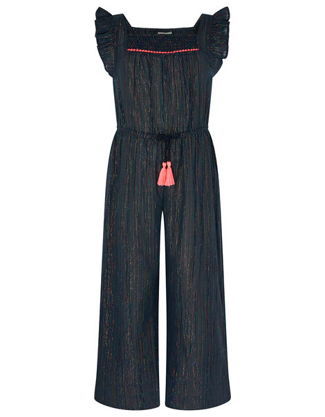 Sparkle Stripe Jumpsuit Blue, Blue (BLUE), large