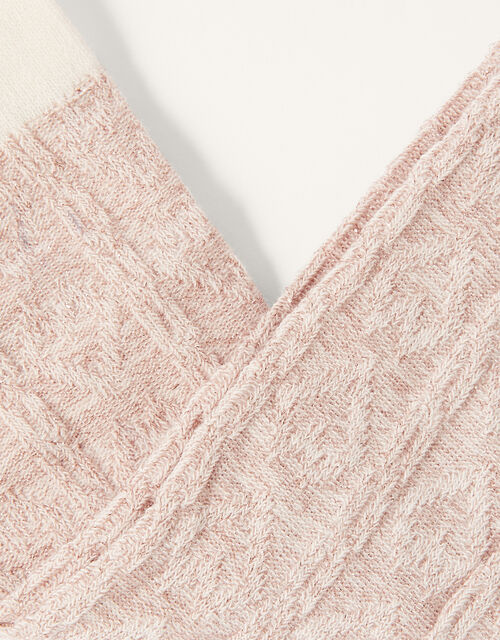 Baby Sparkle Cable Knit Tights, Pink (PINK), large