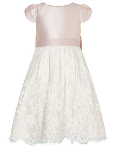 Lace and Duchess Twill Bridesmaid Dress Pink, Pink (PINK), large
