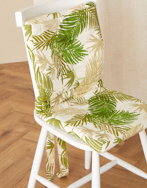 Palm Print Chair Cushion, , large