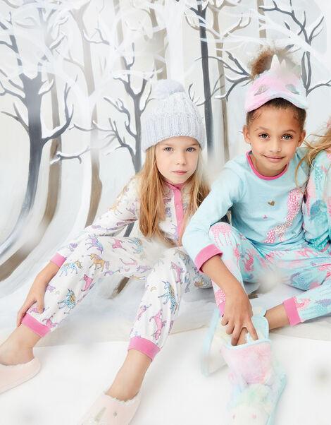 Unicorn Slippers Pink, Pink (PINK), large