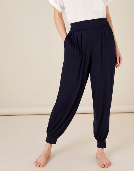 LOUNGE Jersey Hareem Trousers Blue, Blue (NAVY), large