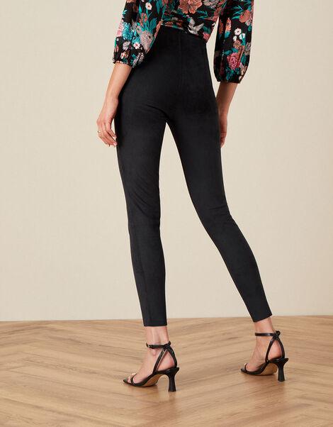 Cecily Suedette Leggings Black, Black (BLACK), large