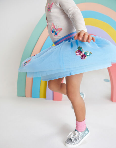 Disco Butterfly Skirt Blue, Blue (BLUE), large