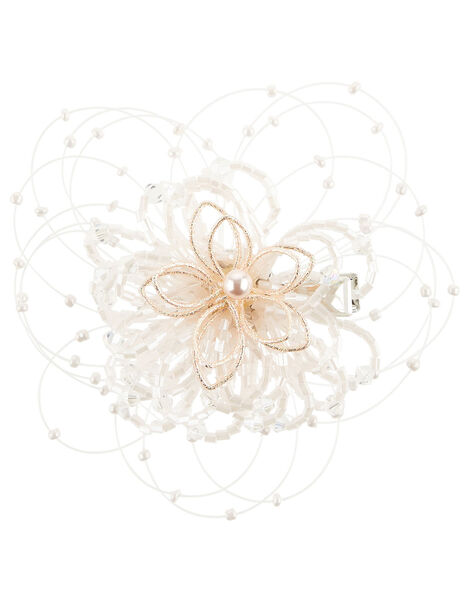 Wire Flower Spray Hair Clip, , large