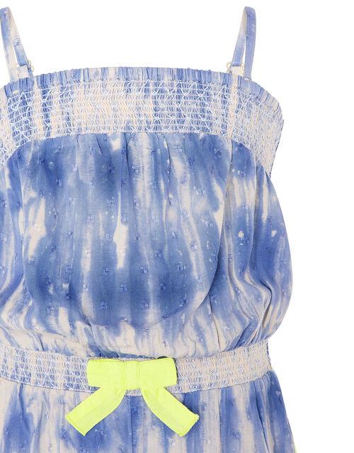 Cassia Tie Dye Playsuit, Blue (BLUE), large