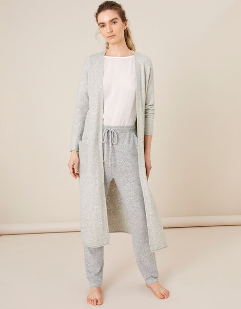 LOUNGE Maxi Cardigan  Grey, Grey (GREY), large