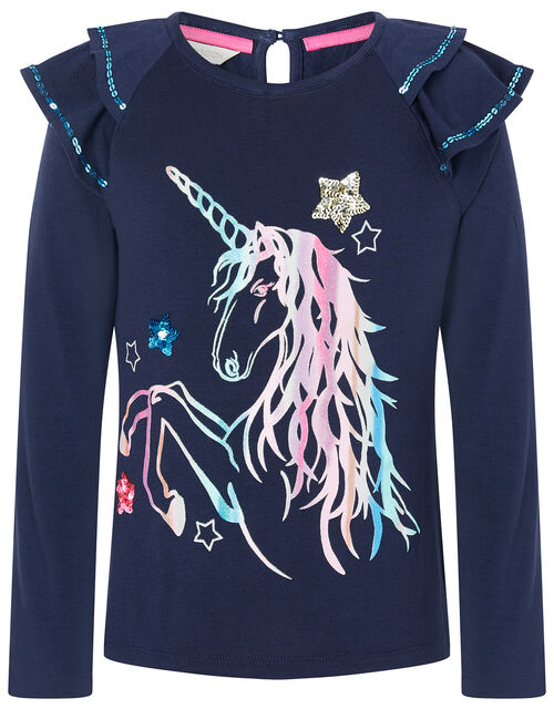 Rainbow Unicorn Long Sleeve Top, , large