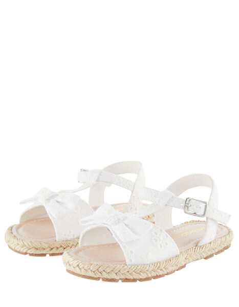 Baby Broderie Sandals Ivory, Ivory (IVORY), large