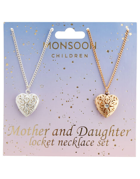Mother and Daughter Locket Necklace Set, , large