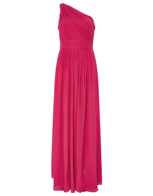 Dani One Shoulder Maxi Dress, Pink (PINK), large