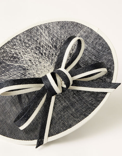 Two-Tone Bow Disc Fascinator , , large