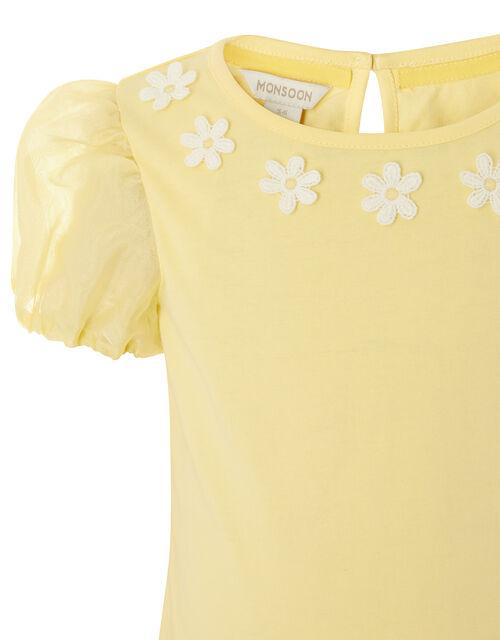 Daisy Organza Top , Yellow (YELLOW), large