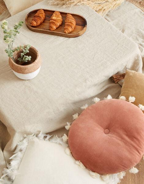 Round Velvet Tassel Cushion, , large