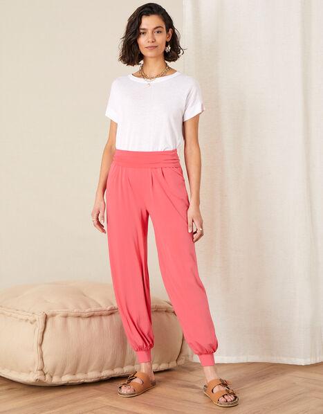 LOUNGE Heidi Jersey Hareem Trousers  Orange, Orange (CORAL), large