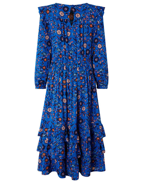 Willow Long Sleeve Printed Dress in LENZING™ ECOVERO™, Blue (BLUE), large