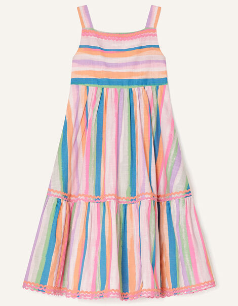 Painterly Stripe Midi Dress  Multi, Multi (MULTI), large