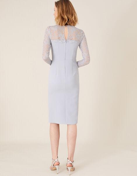 Carey Lace Panel Shift Dress Grey, Grey (GREY), large