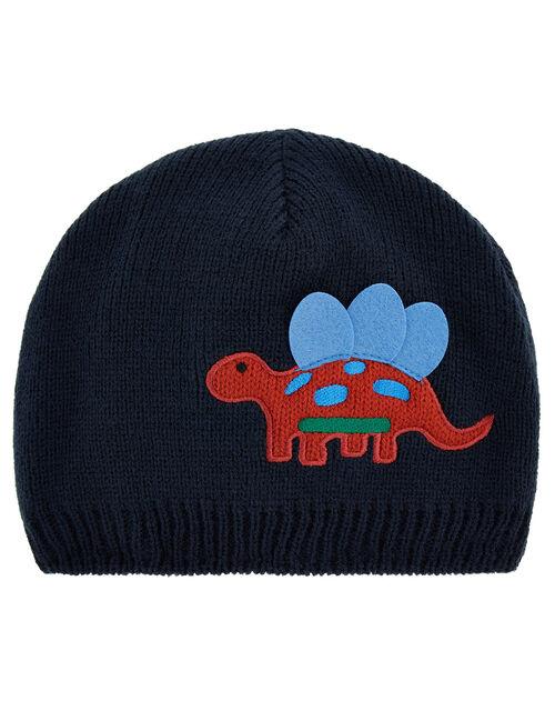 3D Dino Dom Knit Beanie Hat, Multi (MULTI), large