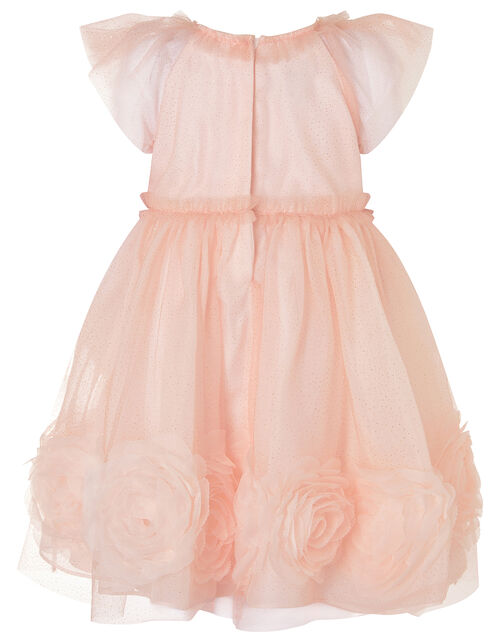 Baby 3D Glitter Rose Dress, Pink (PINK), large